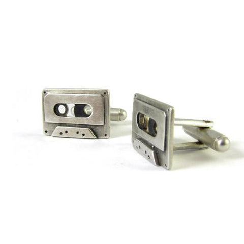 Silver Cassette Cufflinks - IndependentBoutique.com