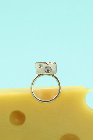 Silver Cheese Dreams Ring by Bug | IndependentBoutique.com