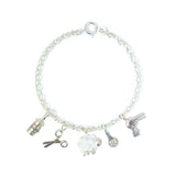 Silver Hairdresser Charm Bracelet by Bug | IndependentBoutique.com