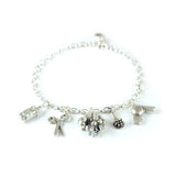 Silver Hairdressing Charms Bracelet made in UK by Bug | IndependentBoutique.com