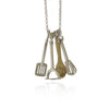 Silver Kitchen Utensils Necklace - IndependentBoutique.com