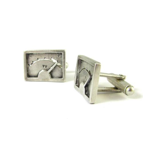 Silver Plume VU Cufflinks - IndependentBoutique.com