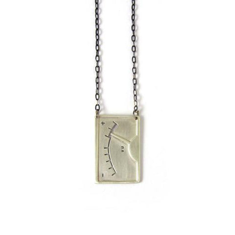 Silver Plume VU Necklace - IndependentBoutique.com