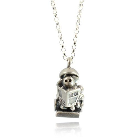 Silver Shampoo and Set Sheep Necklace - IndependentBoutique.com