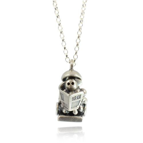 Silver Shampoo and Set Sheep Necklace by Bug | IndependentBoutique.com