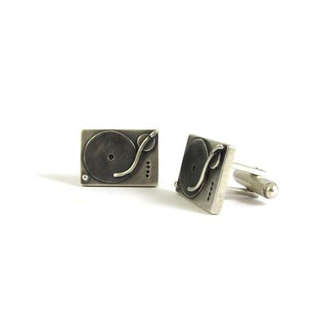 Silver Technics Turntable Cufflinks - IndependentBoutique.com