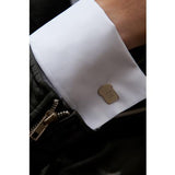 Silver Toast Cufflinks Made in UK by Bug | IndependentBoutique.com