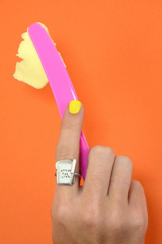 Silver Toast Ring by Bug | IndependentBoutique.com