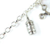 Silver hairspray Charm Bracelet by Bug | IndependentBoutique.com
