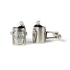 Silver Baked Beans Cufflinks - IndependentBoutique.com