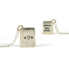Silver Book Necklace - IndependentBoutique.com