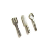 Silver Cutlery Stud Earrings - IndependentBoutique.com