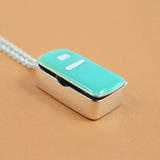 Silver & Enamel Smug Fridge Necklace - IndependentBoutique.com
