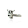 Solid Silver Highland Cow Face Ring Made in UK by Bug | IndependentBoutique.com