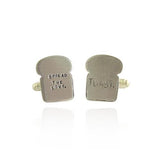 Solid Silver Toast Cufflinks Made in UK by Bug | IndependentBoutique.com