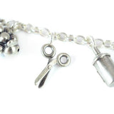 Solid Silver scissor Charm Bracelet by Bug | IndependentBoutique.com