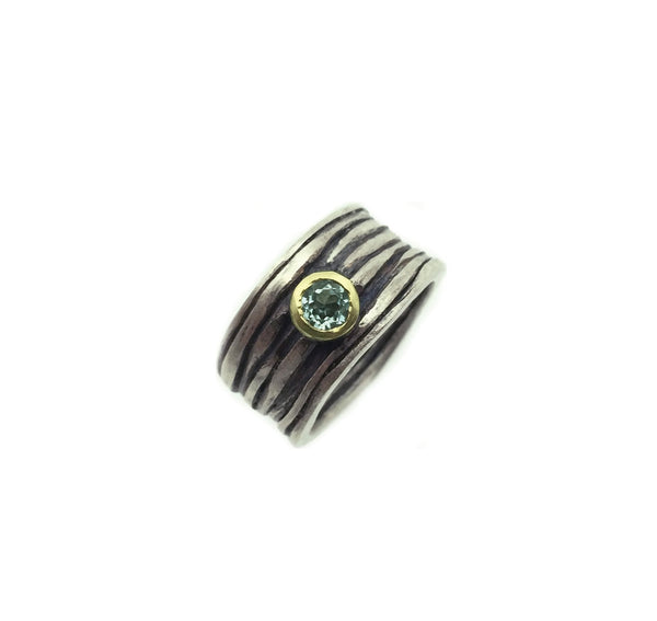 Sula Gold + Silver Wide Gem Ring - IndependentBoutique.com