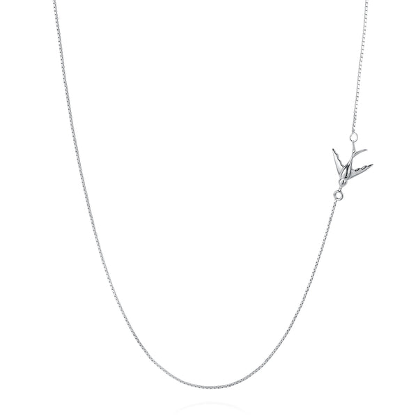 Swallow Necklace - Silver - IndependentBoutique.com