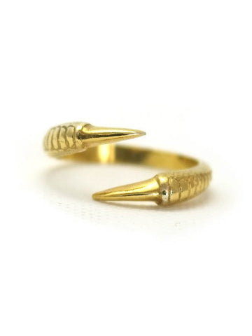 Talon Two Claw Ring - Gold