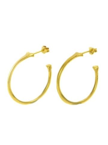 The Radius Hoop Earrings - Gold