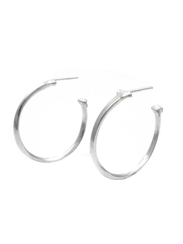 The Radius Hoop Earrings - Sterling Silver