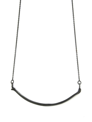 The Radius Necklace - Oxidised Silver