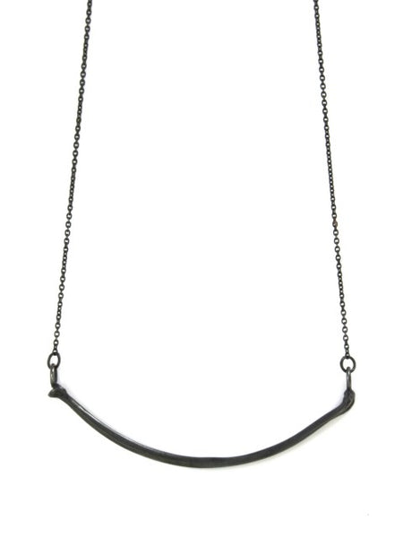 The Radius Necklace - Oxidised Silver - IndependentBoutique.com