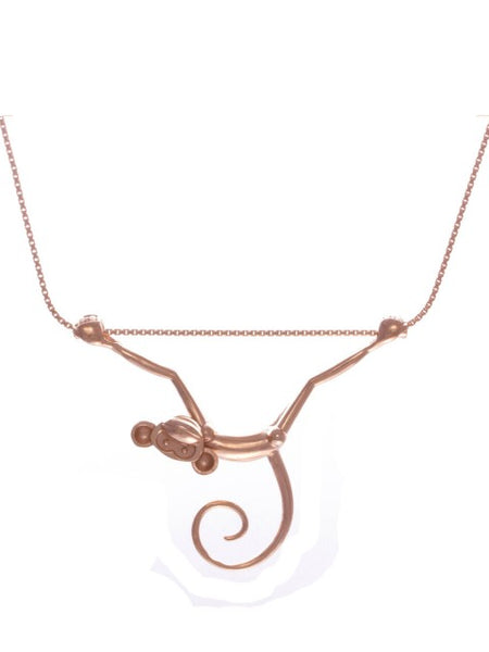 Toy Monkey Necklace - Rose Gold Vermeil