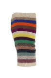 Multicolour Cashmere Stripy Handwarmer - IndependentBoutique.com