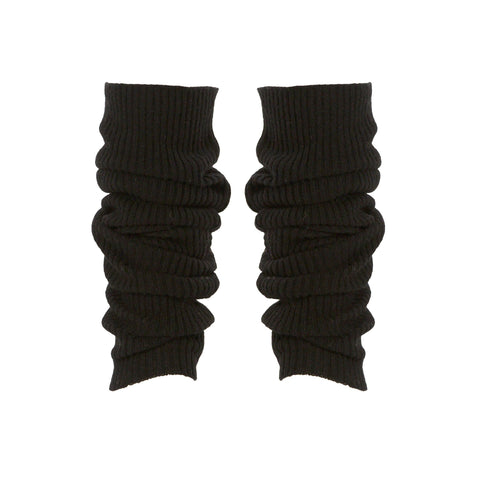 Cashmere Ribbed Black Legwarmers - IndependentBoutique.com