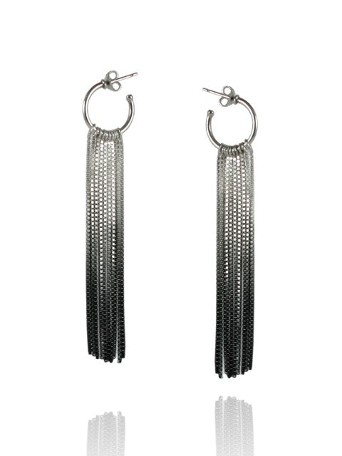 Silver Vesper Hoop Earrings - IndependentBoutique.com