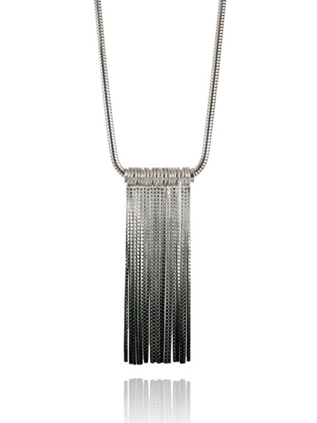 Vesper Long Tube Link Pendant - IndependentBoutique.com