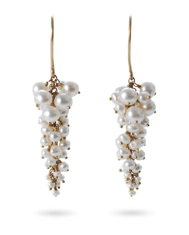 Pearl Wisteria Earrings - IndependentBoutique.com