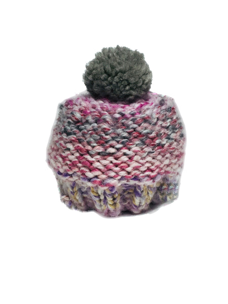 Pink Woolly Knitted Beanie - IndependentBoutique.com