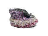 Pink Woolly Sheepskin Crochet Booties - IndependentBoutique.com