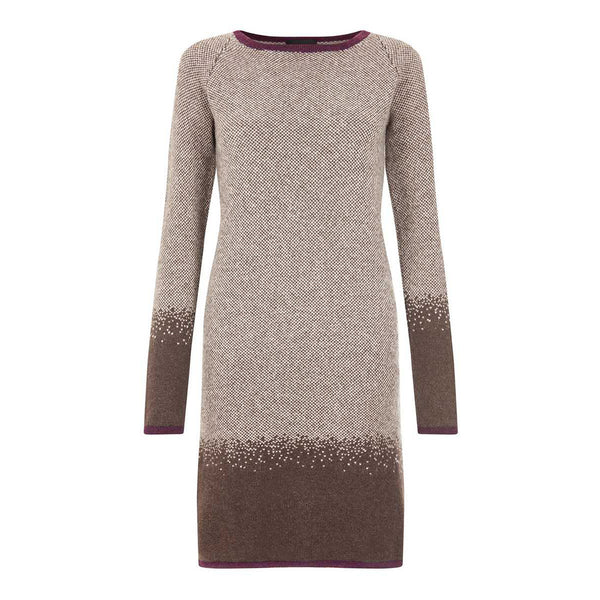 Brown Fairisle Lambswool Ombre Dress - IndependentBoutique.com
