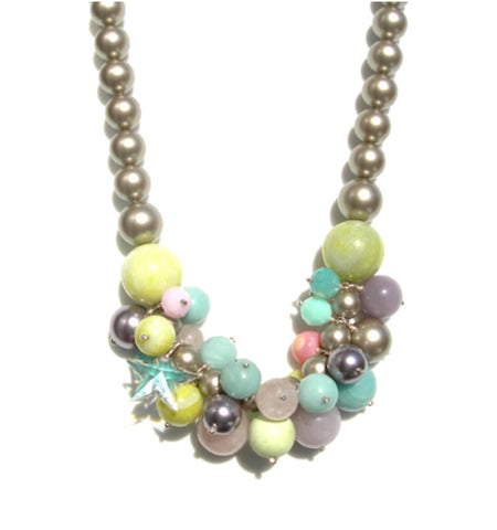 Candy swarovski crystal statement necklace - IndependentBoutique.com