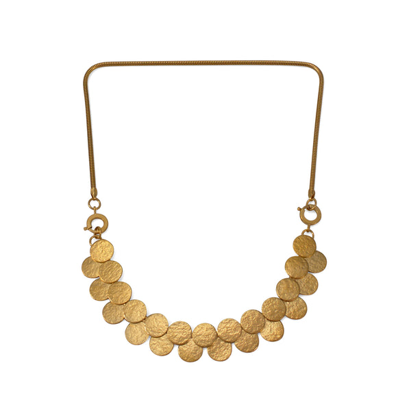 Gold Paillette Double Row Interchangeable Necklace & Bracelet - IndependentBoutique.com