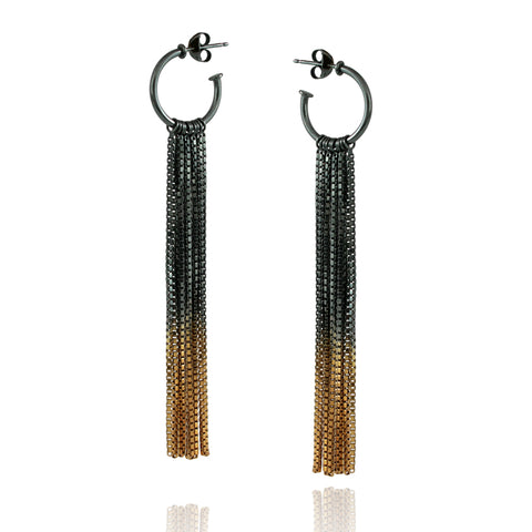 Gold Vesper Hoop Earrings - IndependentBoutique.com