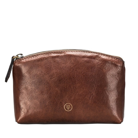 Tan Chia Leather makeup bag