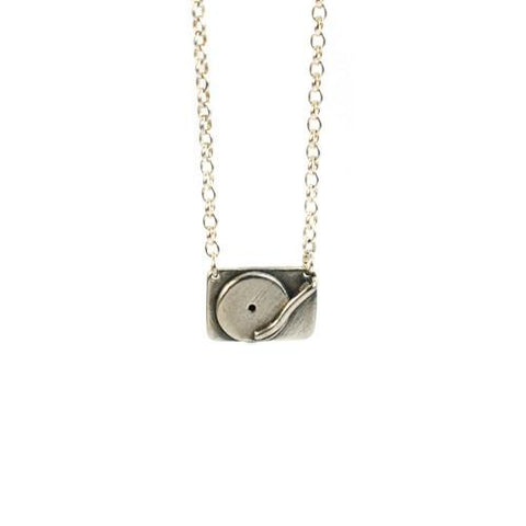 Silver Technics Turntable Necklace - IndependentBoutique.com