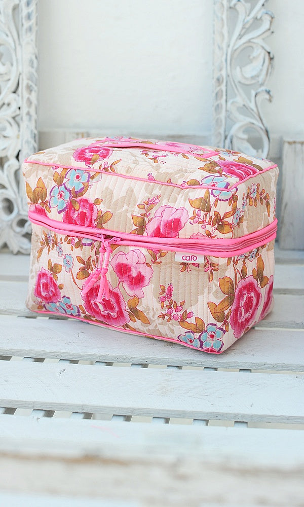 Pink Beautiful Vanity Make-Up Bag - IndependentBoutique.com