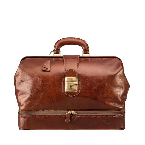 Tan Donnini Large Leather Doctor Bag