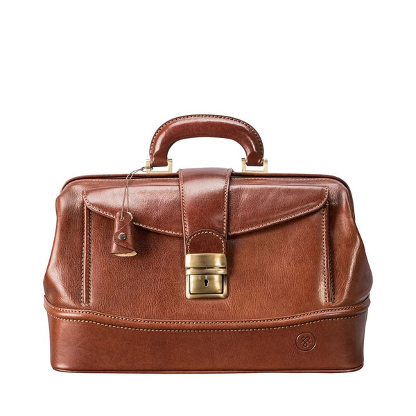 Tan Donnini Small Leather Doctor Bag