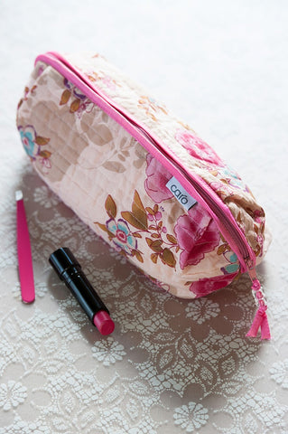 Pink Beautiful Bella Make-Up Bag - IndependentBoutique.com