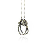 Solid Silver Headphones Necklace by Bug | IndependentBoutique.com
