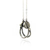 Solid Silver Headphones Necklace - IndependentBoutique.com