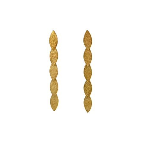 gold drop earrings by Cara Tonkin