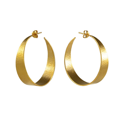 Large Gold Hoop Earrings by Cara Tonkin