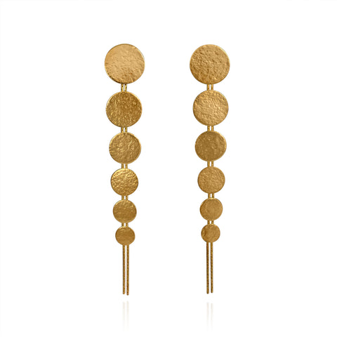 Gold Large Drop Earrings by Cara Tonkin
